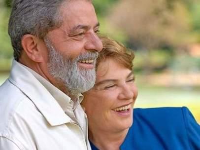 Lula da Silva y su esposa