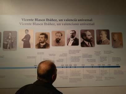 Exposición sobre Blasco Ibáñez.