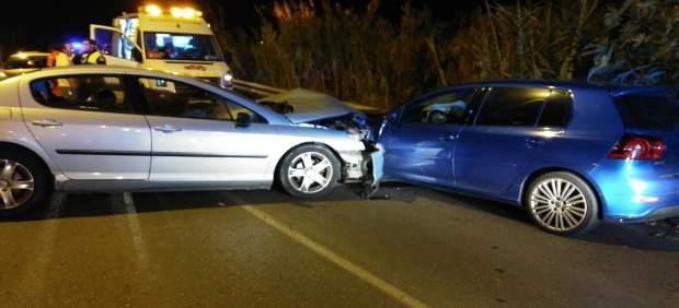 Accidente de tráfico en la carretera de los Yanquis