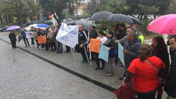 Protesta del Ceper del Polígono Sur.