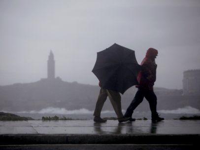 A Coruña, azotada por el temporal