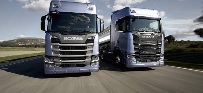 Dos camiones de Scania