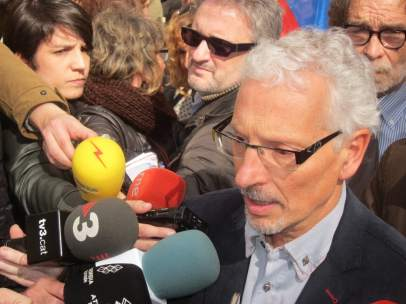 El juez Santi Vidal en una manifestación para apoyarle tras la suspensión CGPJ.