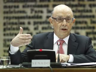 Cristóbal Montoro comparece en el Senado.