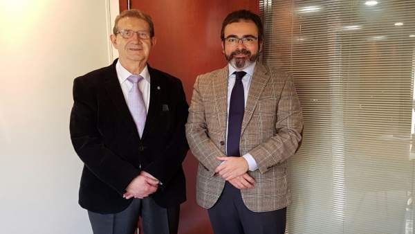 Pedro Rivera y el presidente de Ferrmed, Joan Amorós