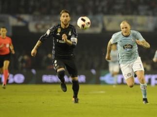 Sergio Ramos John Guidetti Real Madrid Celta