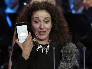 Sandra Hermida recibe el Goya a la mejor dirección