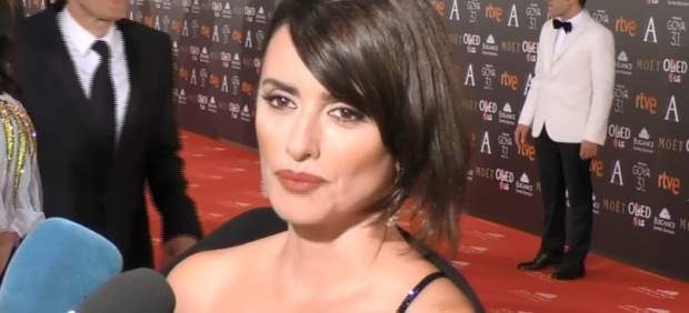 Penélope Cruz, en la gala de los Goya 2017