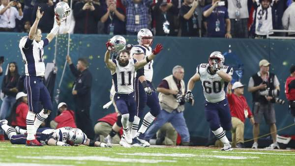 Los Patriots en la Super Bowl