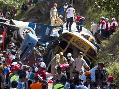 Accidente de tráfico en Honduras