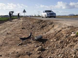 Lugar del accidente en el que perdieron la vida cinco jóvenes en Cartagena (Murcia)