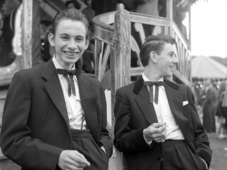 Ken Russell - Two unnamed Teddy Boys at a funfair, January 1955