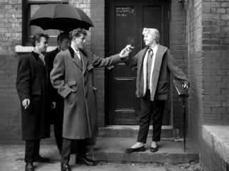 Ken Russell - Josie Buchan at the stage door of the Walthamstow Palace Theatre, January 1955