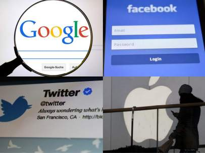 Google, Facebook, Twitter y Apple