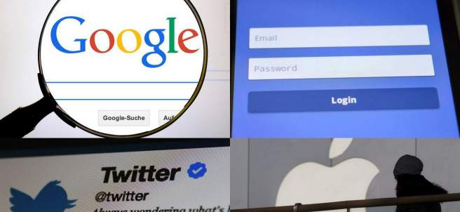 Google, Facebook, Twitter y Apple