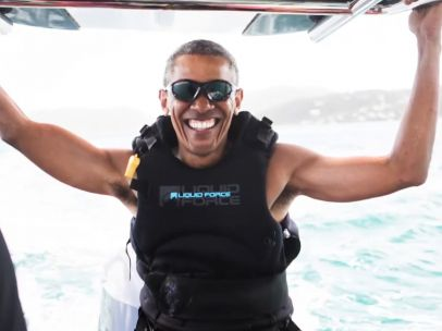 Richard Branson reta a Obama en el agua