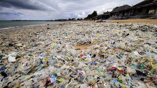 Una playa como basurero