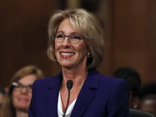 Betsy DeVos, secretaria de Educación de Estados Unidos