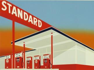 Edward Ruscha (b. 1937), Standard Station, 1966.