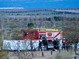 Mueren dos personas al estrellarse su avioneta en Toledo