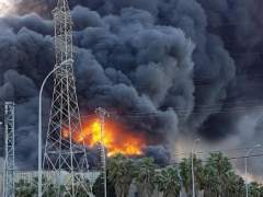 Humo en el incendio de Paterna