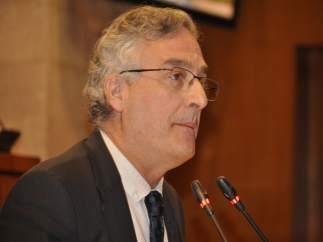 Consejero de Desarrollo Rural y Sostenibilidad, Joaquín Olona, hoy en el pleno