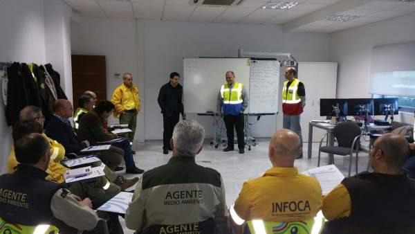 Visita de José Losada a la plataforma de entrenamiento Seilaf