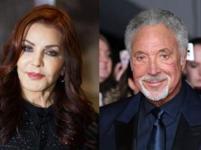 Priscilla Presley  y Tom Jones