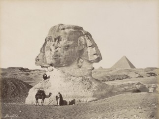 Bonfils - Sphinx and Pyramids of Giza, ca. 1870 - ca. 1898