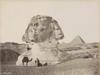 Bonfils - Sphinx and Pyramids of Giza, ca. 1870 - ca. 1898