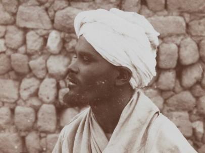 C. & G. Zangaki - Homme Bicharin', man of the Besharin Be-jas tribe, Egypt, ca. 1870-1890