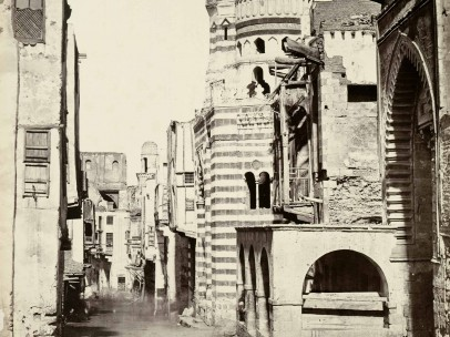 Francis Frith (1822-1898) - Street View in Cairo, Egypt, 1858