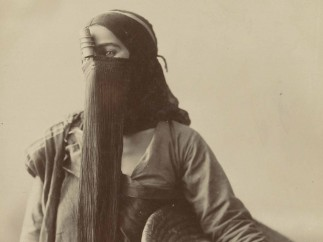 Anonymous - Studio portrait of a fellah woman, ca. 1895