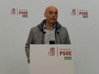 Antonio Hurtado en la sede del PSOE de Córdoba