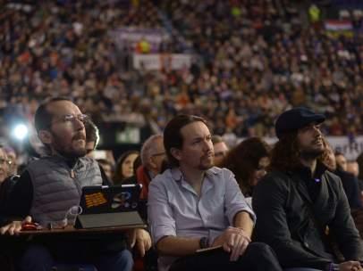 Pablo Echenique y Pablo Iglesias en Vistalegre II