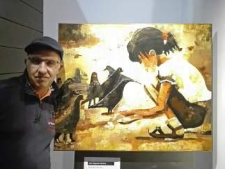 El artista Julio Valgañón