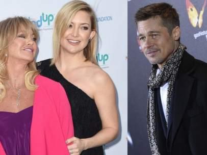 Goldie Hawn, Kate Hudson y Brad Pitt.