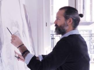Gabriel Moreno en su estudio de Madrid