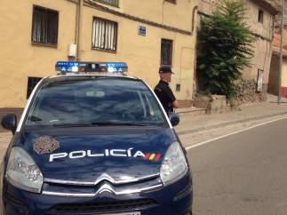 Un choche de Policía Nacional
