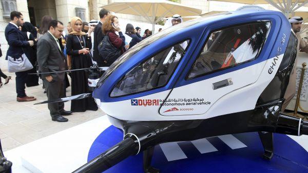 Dron taxi por los cielos de Dubai