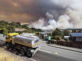 Incendios en Nueva Zelanda