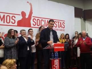 Pedro Sánchez, en el acto en Calasparra (Murcia)
