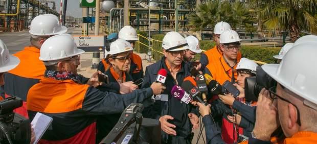 Complejo industrial de Repsol en Tarragona.