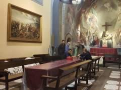 La parroquia de Santa Anna de Barcelona acoge desde el pasado 16 de enero  a personas sintecho y en riesgo de exclusión social.