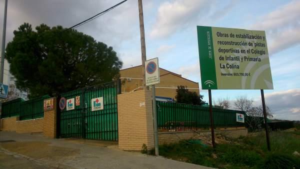 Obras del colegio La Colina.