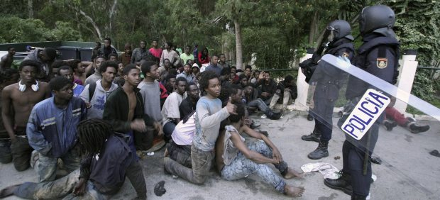 Entrada de migrantes en Ceuta