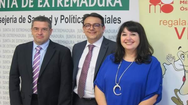 Vergeles, Carrasco y López, tras la rueda de prensa
