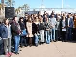 Alcaldes metropolitanos animan en Barcelona a la participación en la manifestación para pedir la apertura de fronteras a los refugiados.