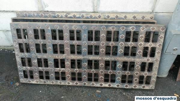 Tapas de alcantarillas robadas en Fraga