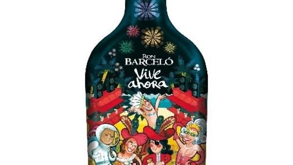 Botella especial de Ron Barceló